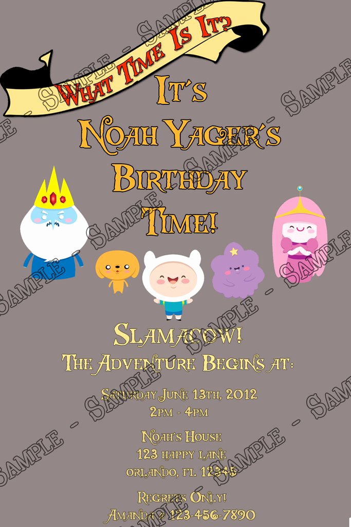 Adventure Time the Invitation Awesome Novel Concept Designs Adventure Time Grey Birthday