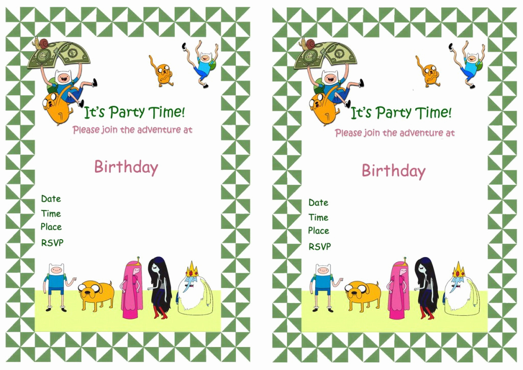 Adventure Time the Invitation Beautiful Adventure Time Birthday Invitations