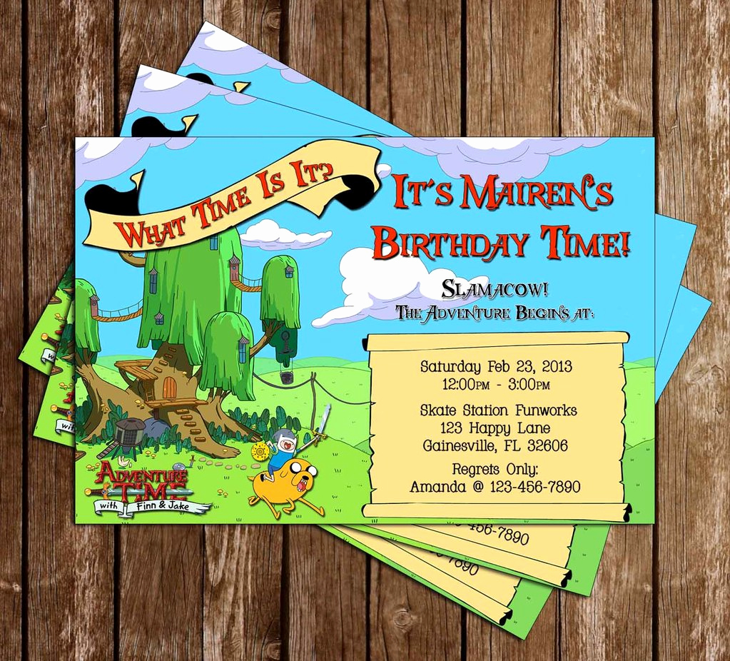 Adventure Time the Invitation Beautiful Novel Concept Designs Adventure Time Birthday Invitation