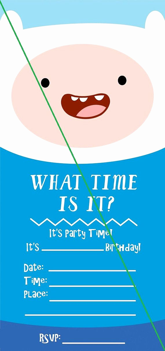 Adventure Time the Invitation Elegant 17 Best Ideas About Invitations Kids On Pinterest