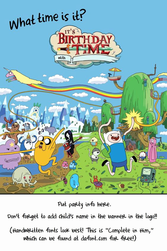 Adventure Time the Invitation Elegant Pinterest • the World's Catalog Of Ideas