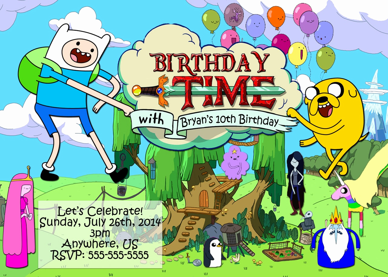 Adventure Time the Invitation Fresh Adventure Time Birthday Party Invitations