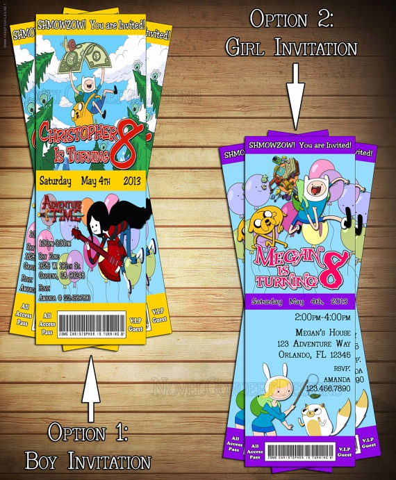 Adventure Time the Invitation Inspirational 17 Best Images About Adventure Time Party Ideas On