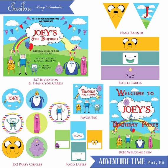 Adventure Time the Invitation Inspirational Customized Adventure Time Birthday Invitation and Party Kit
