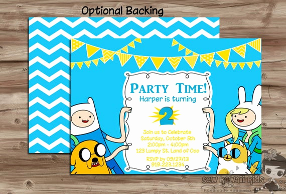 Adventure Time the Invitation Inspirational Items Similar to Adventure Time Birthday Invitation