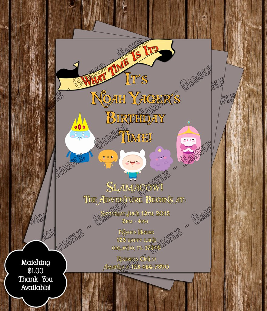 Adventure Time the Invitation Inspirational Novel Concept Designs Adventure Time Birthday Invitation
