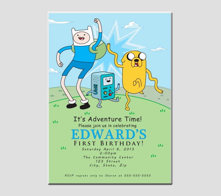 Adventure Time the Invitation Unique 7 Best Adventure Time Birthday Invitations and Party