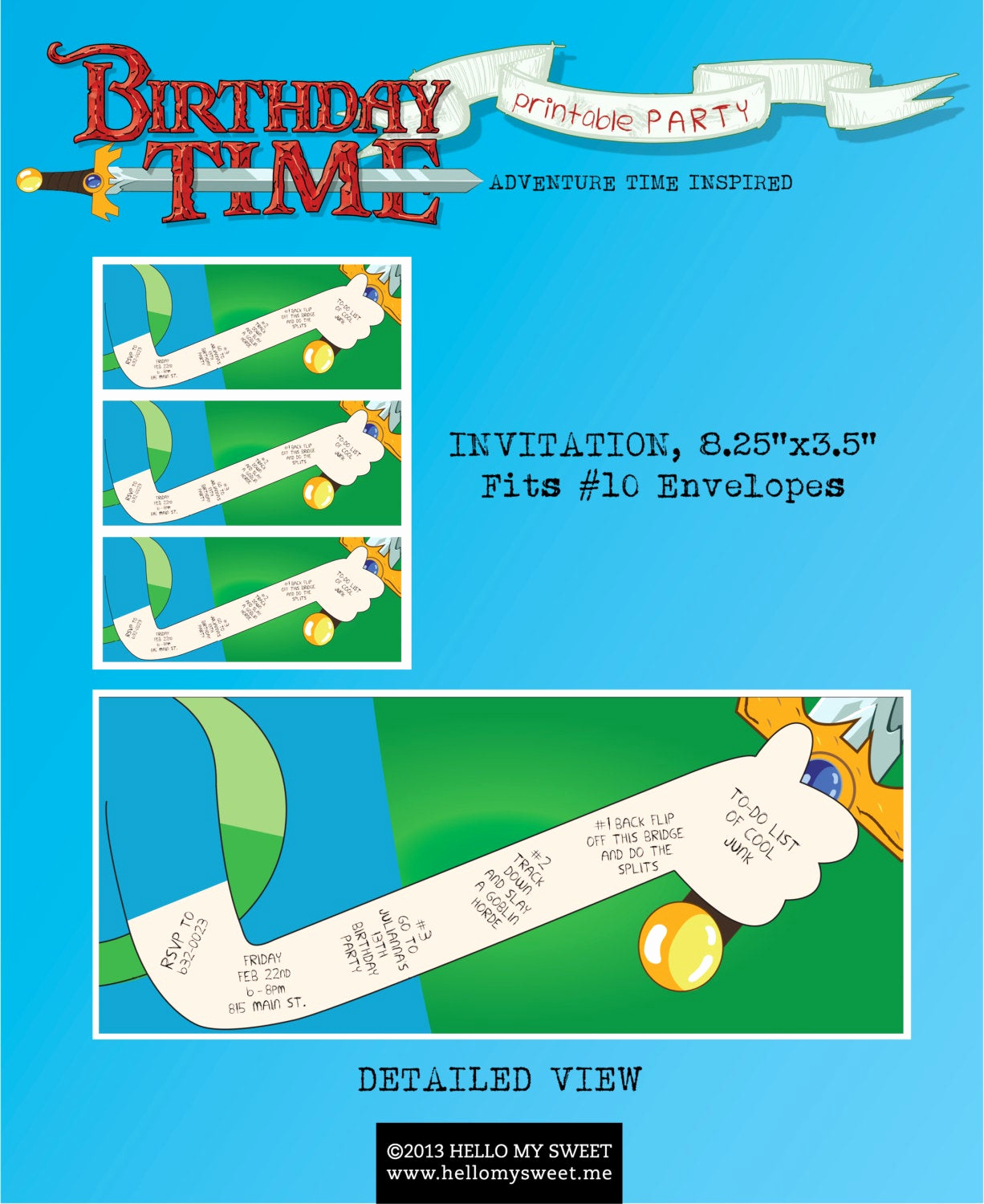 Adventure Time the Invitation Unique Adventure Time Party Invitation Party Printable Decorations