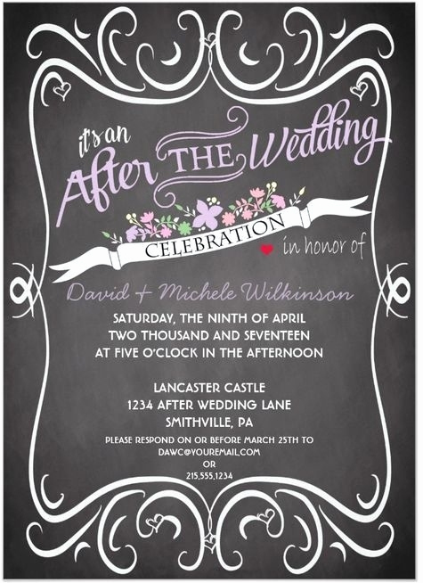 After Party Invitation Wording Awesome after Wedding Party Invitation Wording Cobypic