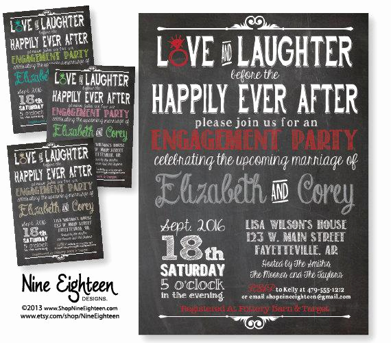 After Party Invitation Wording Awesome Items Similar to Love & Laughter before Happily Ever after