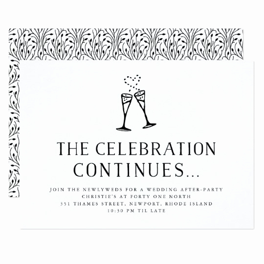 After Party Invitation Wording Best Of Wedding after Party Invitation Insert Card
