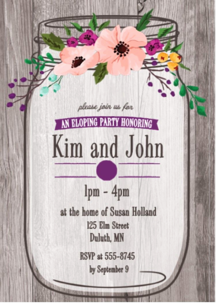 After Party Invitation Wording Elegant after the Wedding Party Invitations or Elopement Party
