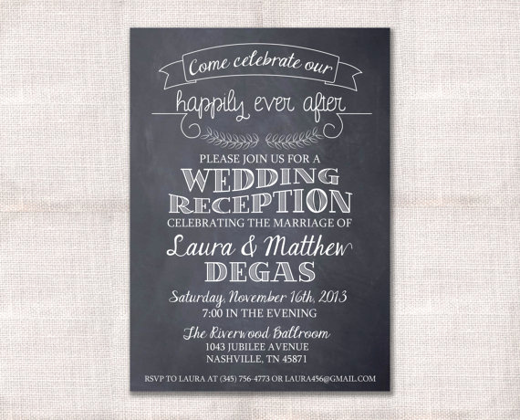 After Party Invitation Wording Inspirational Wedding Reception Celebration after Party Invitation Custom