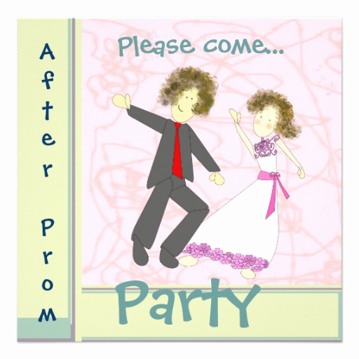 After Party Invitation Wording Lovely after Prom Party 5 25x5 25 Square Paper Invitation Card