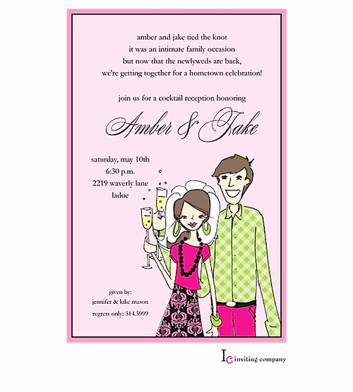 After Party Invitation Wording Luxury after the Wedding Party Invitations or Elopement Party