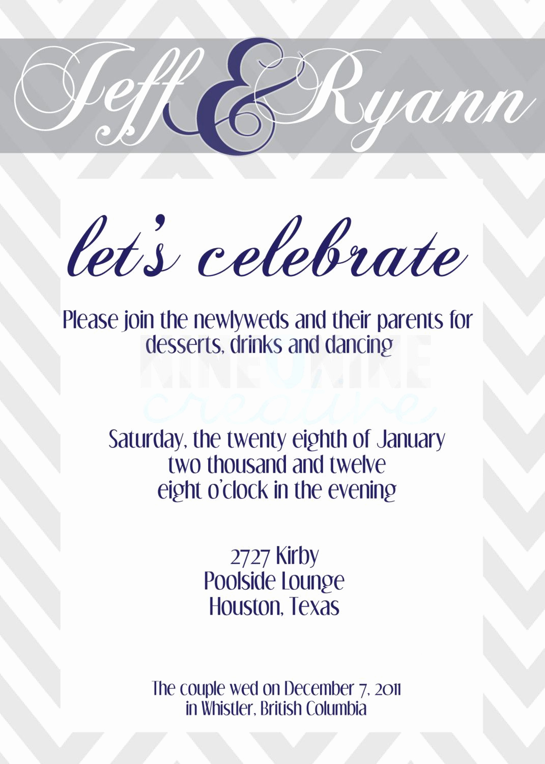 After Party Invitation Wording Luxury Post Wedding Reception Invitations Templates