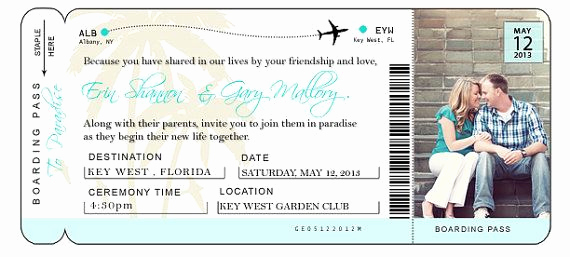 Airline Ticket Invitation Template Awesome Diy Airline Ticket Invitation