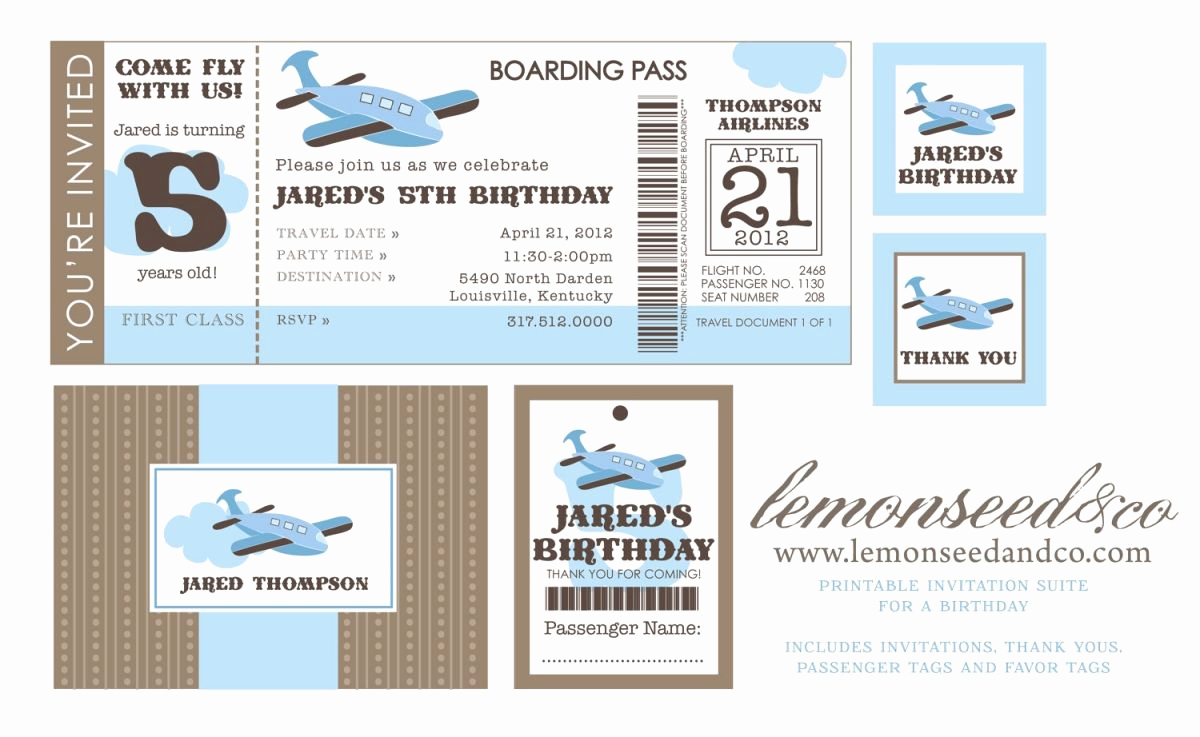 Airline Ticket Invitation Template Awesome Printable Airline Ticket Invitation Template