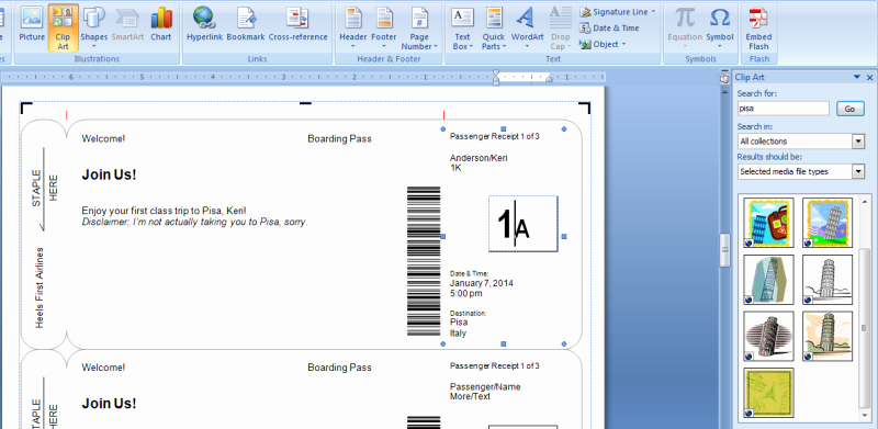 Airline Ticket Invitation Template Elegant Making Fake Boarding Passes as Gifts Le Chic Geek