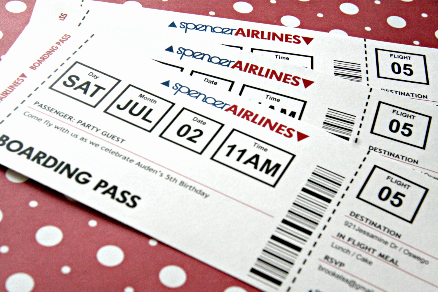 Airline Ticket Invitation Template Inspirational Airplane Ticket Invitation Printable Birthday by
