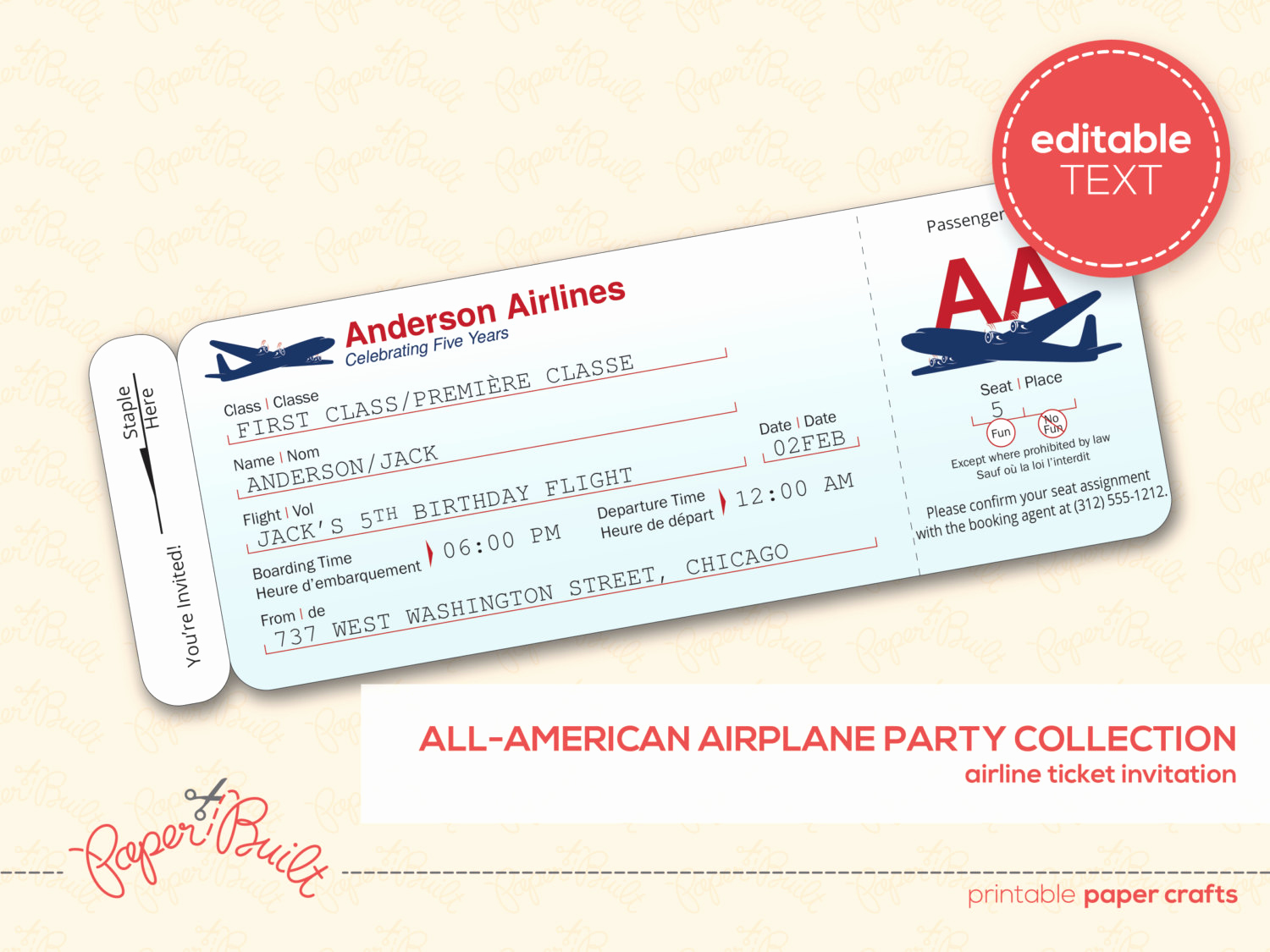 Airline Ticket Invitation Template Luxury 27 Best Airline Boarding Pass Ticket Template Examples