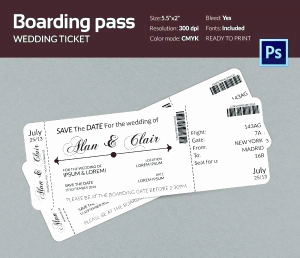 Airline Ticket Invitation Template Luxury Airplane Boarding Pass Template Free Printable Plane