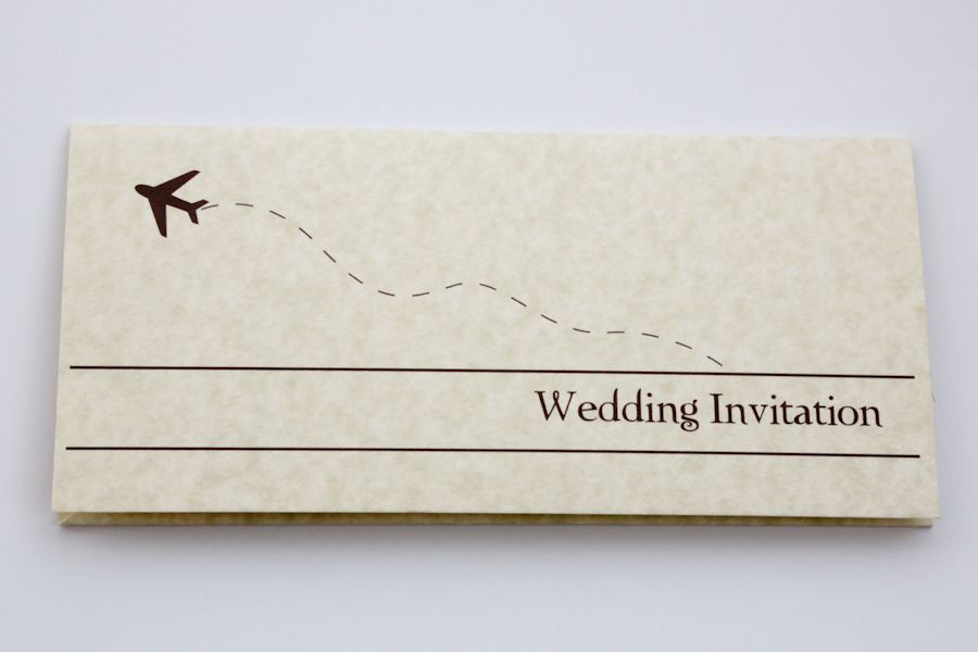 Airline Ticket Invitation Template Luxury Plane Ticket Wedding Invitation Template