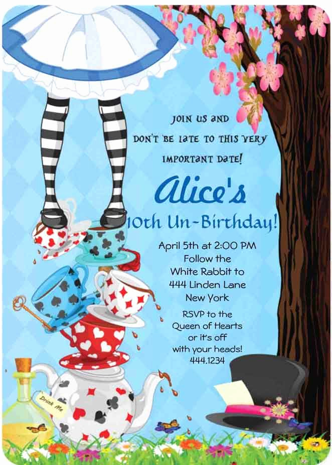 Alice In Wonderland Invitation Awesome 25 Best Ideas About Alice In Wonderland Invitations On