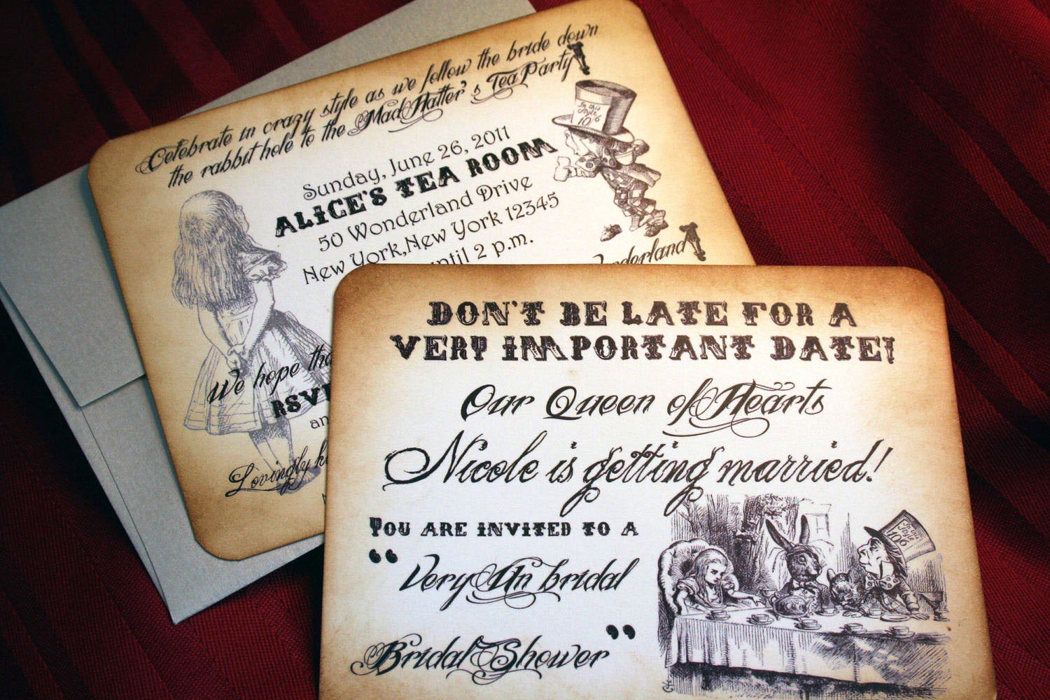 Alice In Wonderland Invitation Awesome Alice In Wonderland Invitations for Wedding Bridal Shower Baby