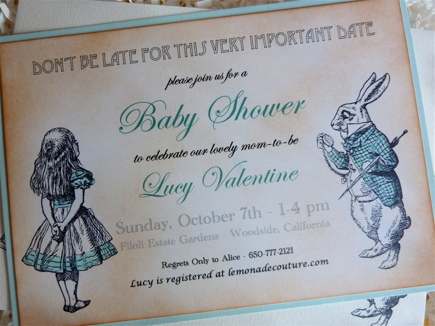 Alice In Wonderland Invitation Best Of Vintage Alice In Wonderland Baby Shower Invitations Hand
