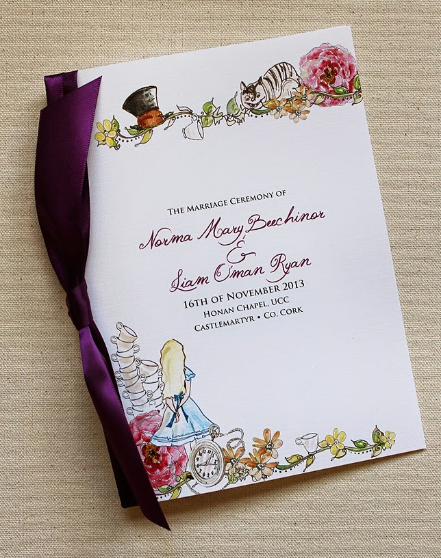 Alice In Wonderland Invitation Elegant Alice In Wonderland Wedding Invitations