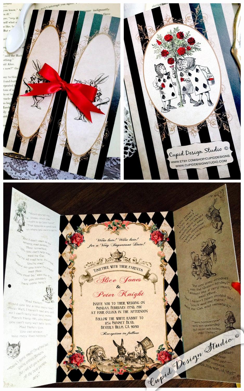 Alice In Wonderland Invitation Elegant Elegant Alice In Wonderland Invitation Mad Hatter Tea Party