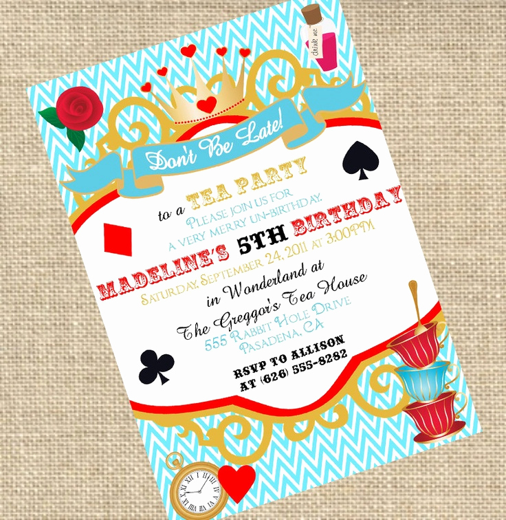 Alice In Wonderland Invitation Ideas Awesome 17 Best Images About theme Alice In Wonderland