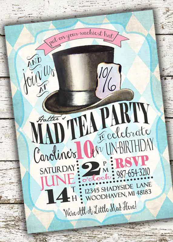 Alice In Wonderland Invitation Ideas Beautiful 100 Alice In Wonderland Party Ideas—by A Professional