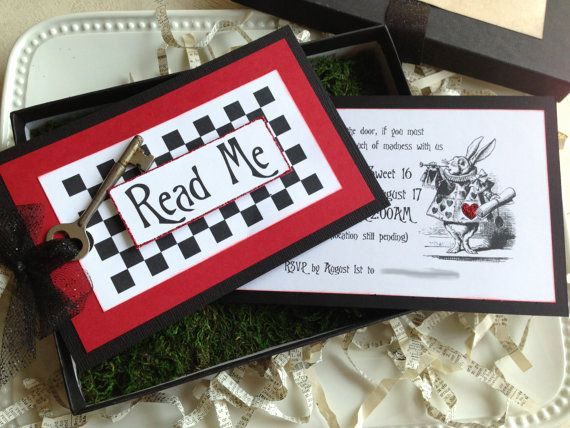 Alice In Wonderland Invitation Ideas Beautiful 17 Best Ideas About Birthday Box On Pinterest