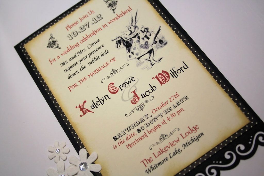 Alice In Wonderland Invitation Ideas Beautiful Alice In Wonderland Wedding Invitation Vintage In Appearance