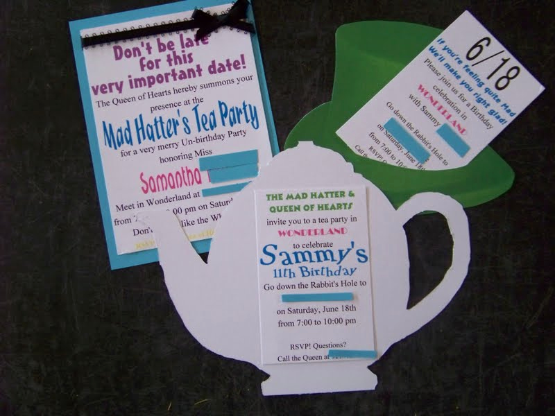 Alice In Wonderland Invitation Ideas Elegant Wonderland Party Invites