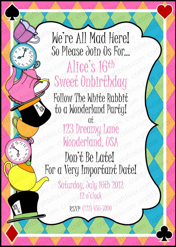 Alice In Wonderland Invitation Ideas Inspirational 40 Best Images About Alice In Wonderland Invitation Ideas