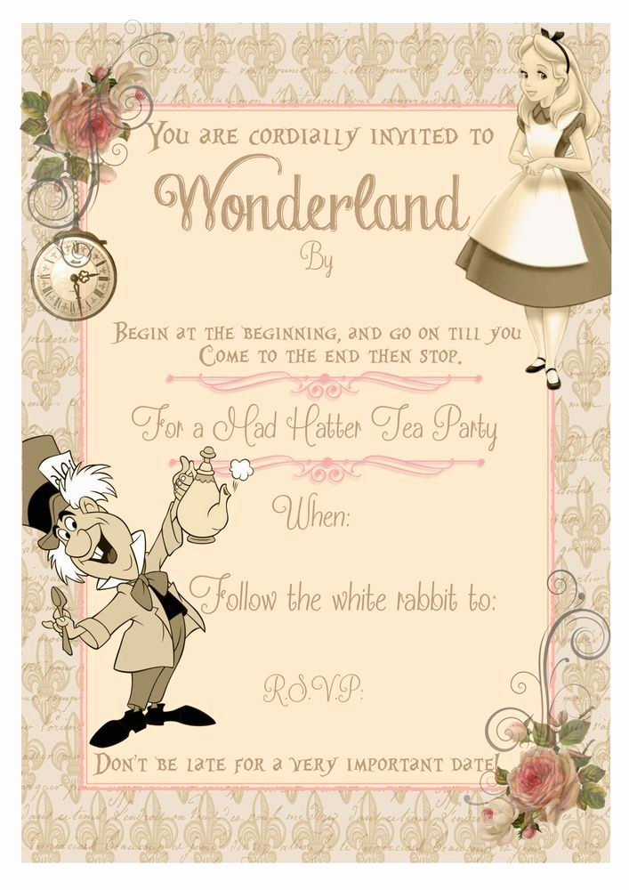 Alice In Wonderland Invitation Ideas Lovely Best 25 Alice In Wonderland Invitations Ideas On