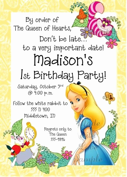 Alice In Wonderland Invitation Ideas Luxury Best 25 Alice In Wonderland Invitations Ideas On Pinterest