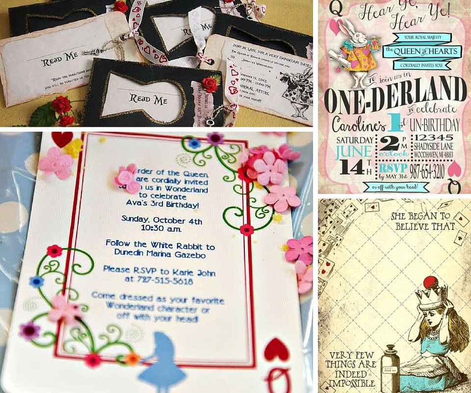 Alice In Wonderland Invitation Ideas New Alice In Wonderland Party Ideas