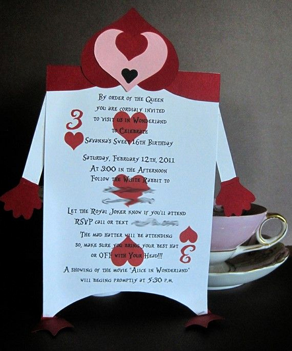 Alice In Wonderland Invitation Ideas New Alice In Wonderland Sweet 16 Party Invitation Via Etsy