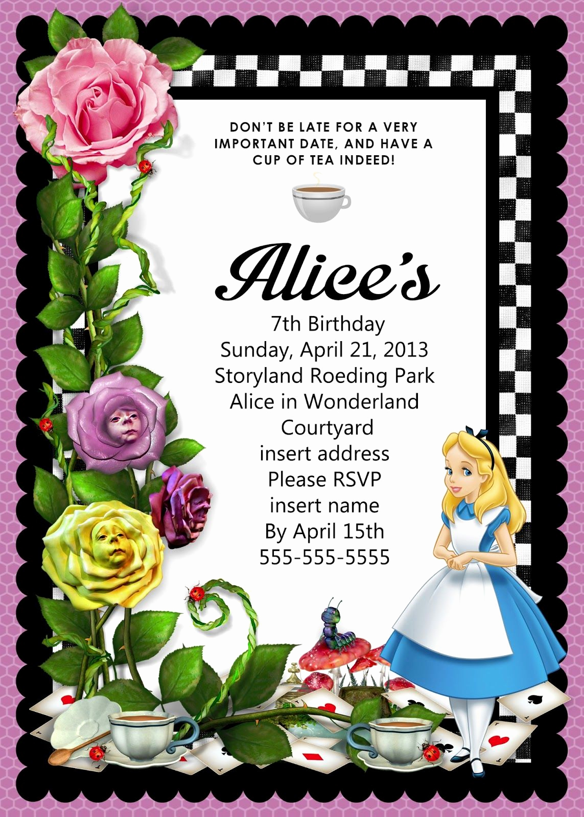 Alice In Wonderland Invitation Ideas Unique Image Result for Free Alice In Wonderland Party