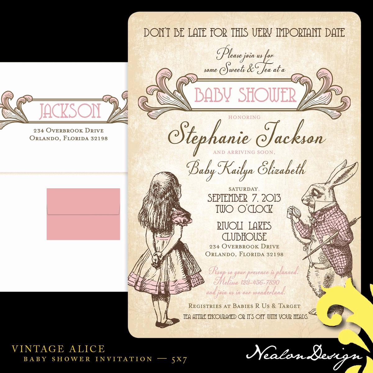 Alice In Wonderland Invitation Template Best Of Alice In Wonderland Invitation Template Free