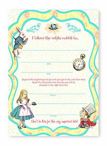 Alice In Wonderland Invitation Template Fresh Alice In Wonderland Birthday Party Invitations