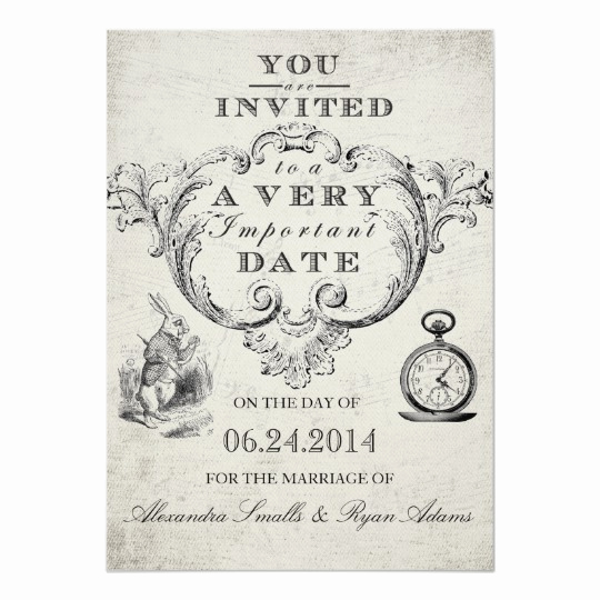 Alice In Wonderland Invitation Template Fresh Alice In Wonderland Wedding Invitation