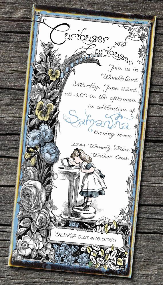 Alice In Wonderland Invitation Template Unique Brag Monday Bird Tray & Alice In Wonderland Invites