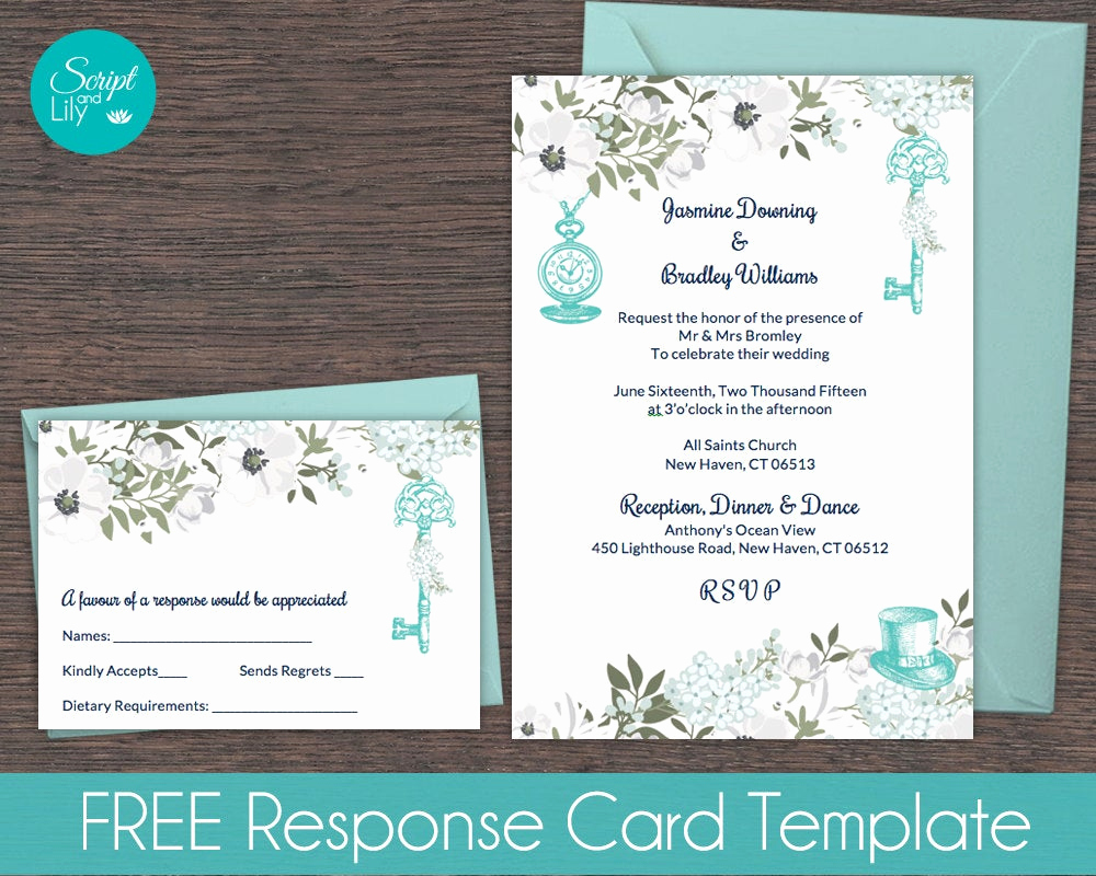 Alice In Wonderland Invitation Templates Awesome Teal & White Alice In Wonderland Invitation Template Free