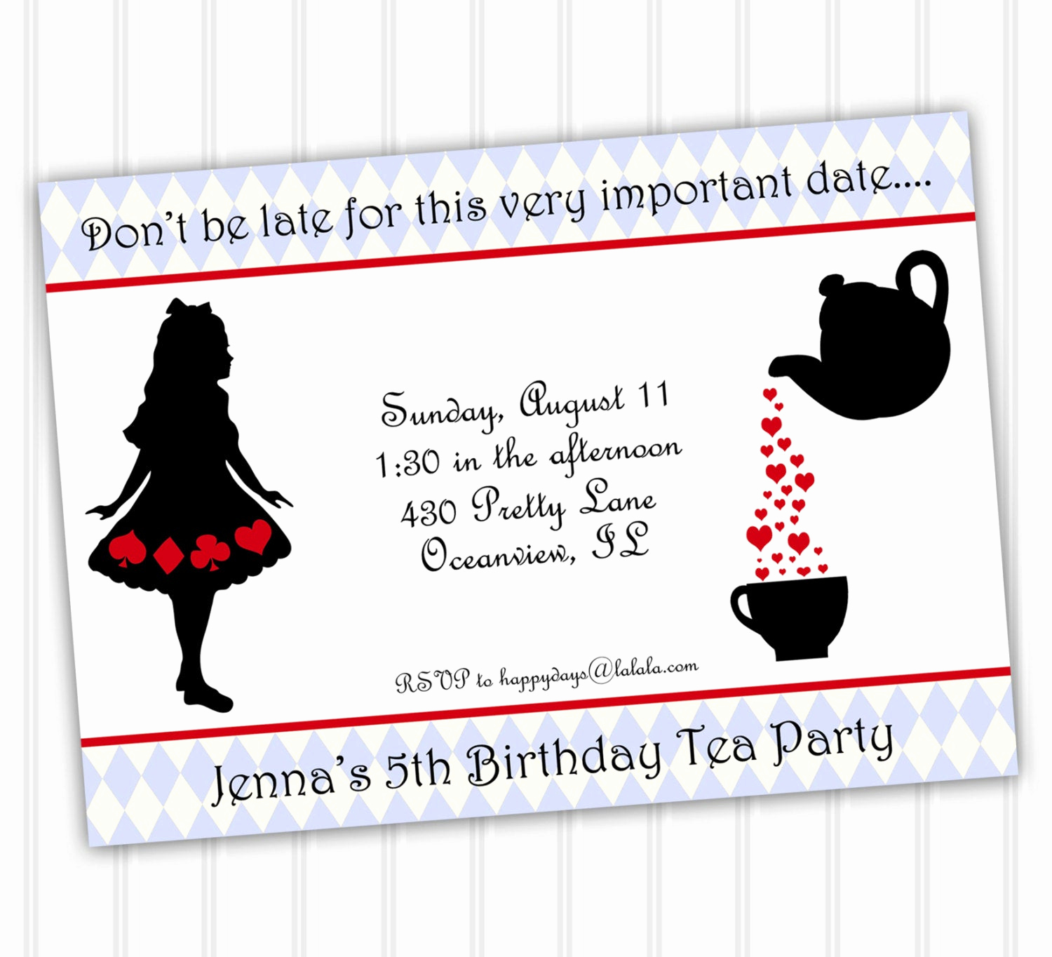 alice in wonderland invitation instant