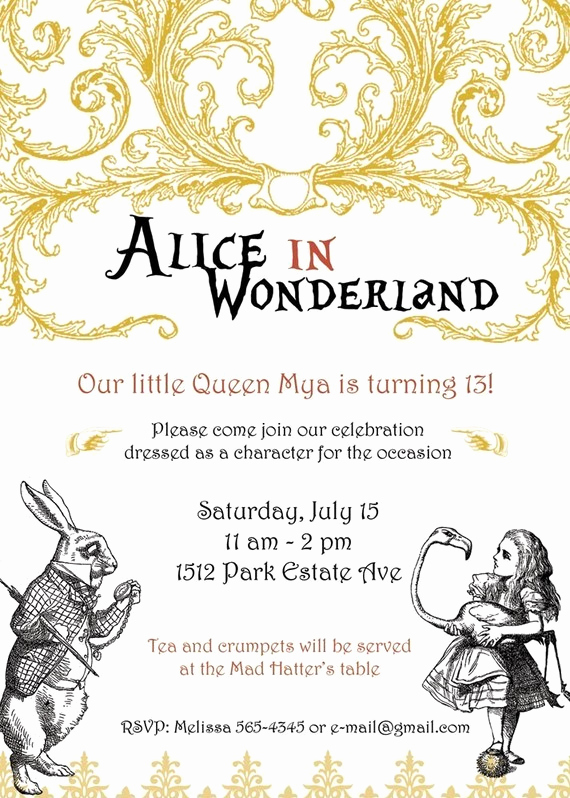 Alice In Wonderland Invitation Templates Fresh the Paper Nest Co Mad Hatter Party Ideas How to Throw